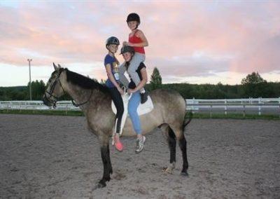 hesteridning og barn